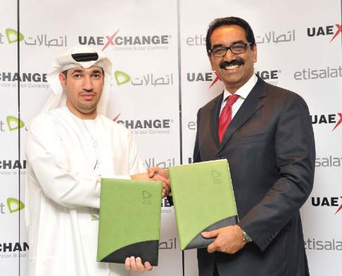 Etisalat and UAE Exchange partnership